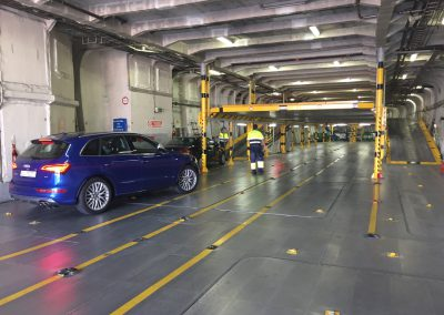Q-car in ferry