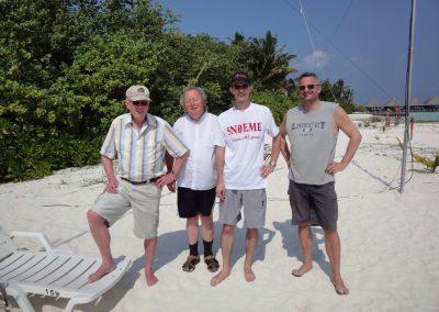 8Q7QQ Teamfrom left: Pierre HB9QQ, Hermann DL2NUD, Bodo HB9EHJ, Dan HB9CRQ