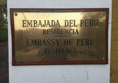 many thanks to the Ambassador of Peru!