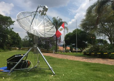 10 GHz in the garden of the Residence of the Ambassador of Peru