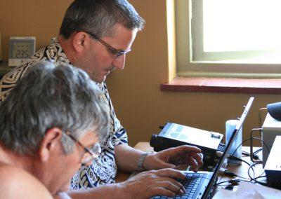 Hal and Dan doing reports