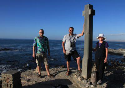 Dan, Pine and Erika at Diaz Point Memorial