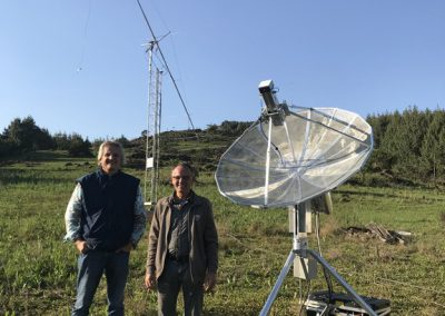 Dan & Sam with 13cm station