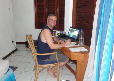 Dan, HB9CRQ operating 144 MHz