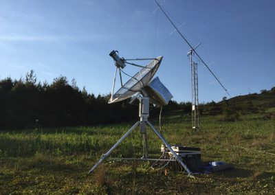 13cm station and 6m antenna