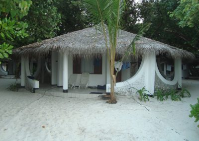 our shack directly on the beach