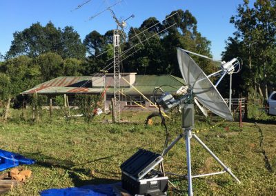 6cm station, 2m & 70cm antenna, shack