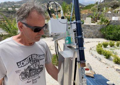Sam checking 70cm set-up