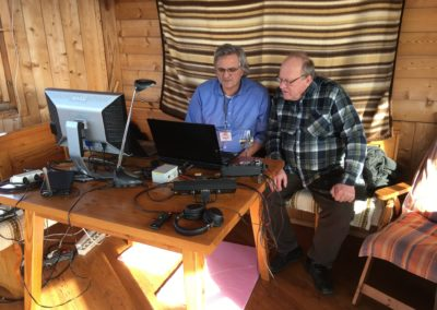 Bernd, OE6HBD following an EME QSO